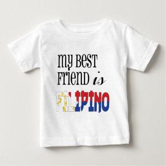 Mi mejor amigo es filipino playera de bebé