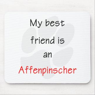 Mi mejor amigo es un Affenpinscher Alfombrillas De Raton