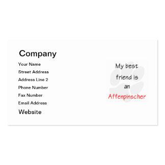 Mi mejor amigo es un Affenpinscher Tarjetas Personales