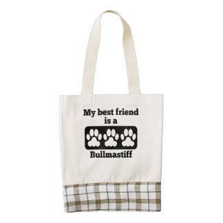 Mi mejor amigo es un Bullmastiff Bolsa Tote Zazzle HEART
