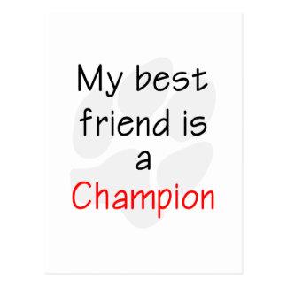 Mi mejor amigo es un campeón postal