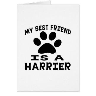 Mi mejor amigo es un corredor de cross tarjeta de felicitación