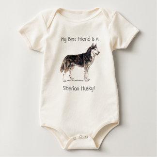 ¡Mi mejor amigo es un husky siberiano! Body De Bebé