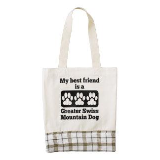 Mi mejor amigo es un mayor perro suizo de la bolsa tote zazzle HEART