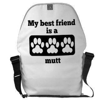 Mi mejor amigo es un Mutt Bolsas De Mensajeria