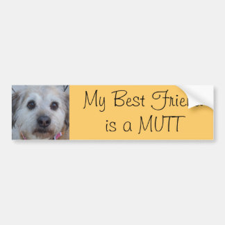 MI mejor amigo es un Mutt Pegatina Para Auto