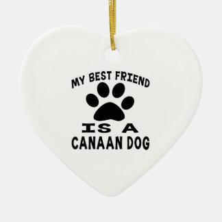 Mi mejor amigo es un perro de Canaan Adorno De Cerámica En Forma De Corazón