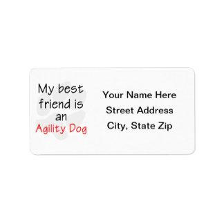Mi mejor amigo es un perro de la agilidad etiquetas de dirección