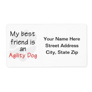 Mi mejor amigo es un perro de la agilidad etiquetas de envío