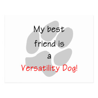 Mi mejor amigo es un perro de la flexibilidad tarjetas postales
