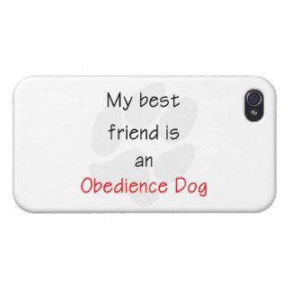 Mi mejor amigo es un perro de la obediencia iPhone 4/4S carcasa