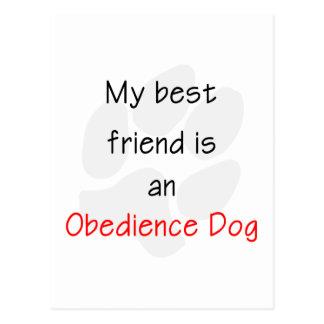 Mi mejor amigo es un perro de la obediencia postal