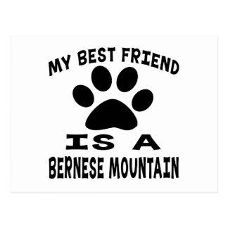 Mi mejor amigo es un perro de montaña de Bernese Postal