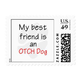 Mi mejor amigo es un perro de OTCH Estampilla