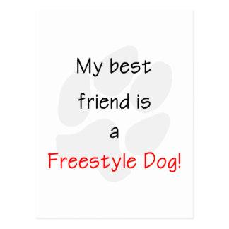 Mi mejor amigo es un perro del estilo libre postal
