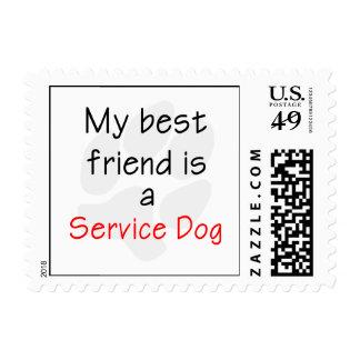 Mi mejor amigo es un perro del servicio franqueo