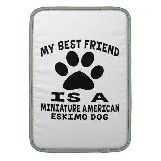 Mi mejor amigo es un perro esquimal americano mini funda  MacBook