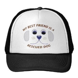 Mi mejor amigo es un perro rescatado gorra