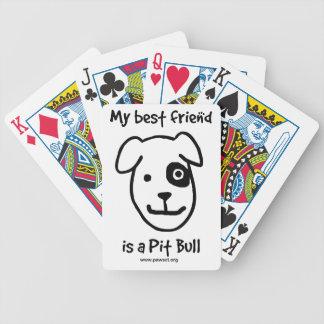 Mi mejor amigo es un pitbull baraja cartas de poker