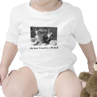 Mi mejor amigo es un pitbull traje de bebé