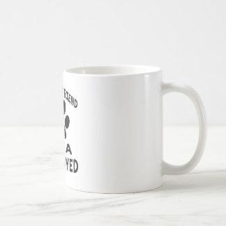 Mi mejor amigo es un samoyedo taza básica blanca