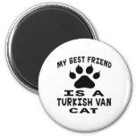 Mi mejor amigo es un Turkish Van Cat Imán