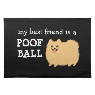 Mi mejor amigo es una bola del Poof - perro de Mantel