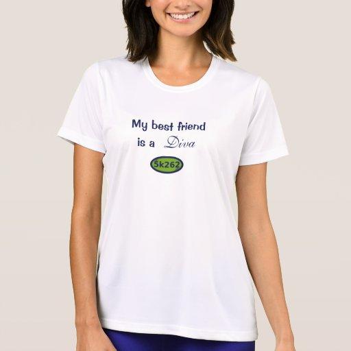 Mi mejor amigo es una diva camiseta