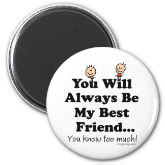 Mi mejor amigo imán redondo 5 cm