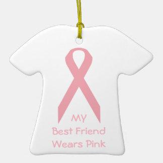 Mi mejor amigo lleva rosa adorno de navidad