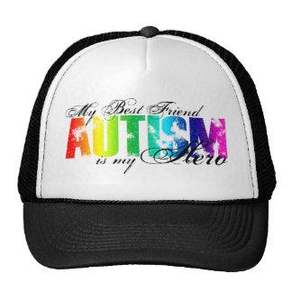 Mi mejor amigo mi héroe - autismo gorras de camionero