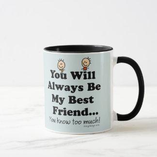 Mi mejor amigo taza
