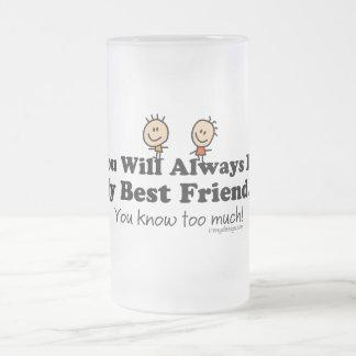 Mi mejor amigo taza de cristal