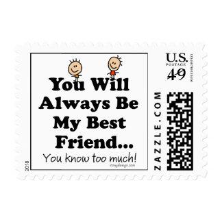 Mi mejor amigo timbres postales