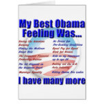 Mi mejor sensación de Obama era… Felicitación