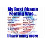 Mi mejor sensación de Obama era… Tarjeta Postal
