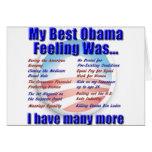Mi mejor sensación de Obama era… Tarjetas