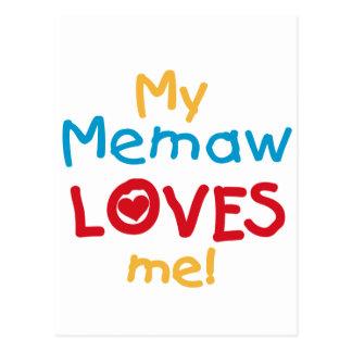 Mi Memaw me ama las camisetas y los regalos Tarjetas Postales