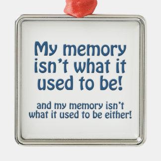 Mi memoria adorno navideño cuadrado de metal