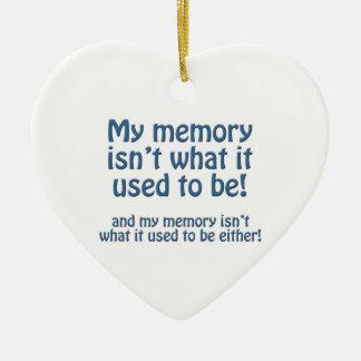 Mi memoria adorno navideño de cerámica en forma de corazón