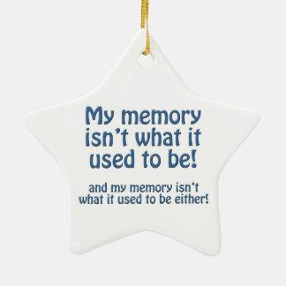Mi memoria adorno navideño de cerámica en forma de estrella