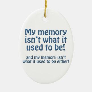Mi memoria adorno navideño ovalado de cerámica