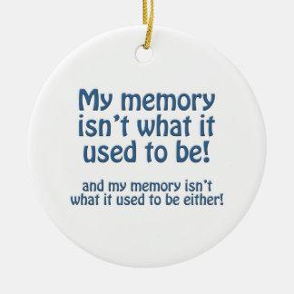 Mi memoria adorno navideño redondo de cerámica
