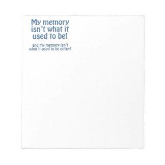 Mi memoria blocs de papel