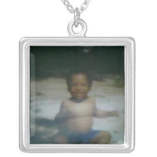 mi memoria del bebé colgante cuadrado