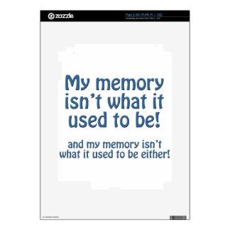 Mi memoria iPad 2 skin