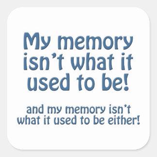 Mi memoria pegatina cuadrada