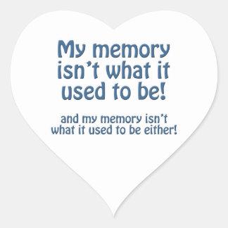 Mi memoria pegatina en forma de corazón