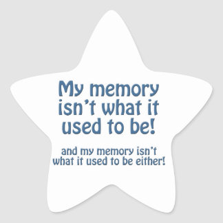 Mi memoria pegatina en forma de estrella