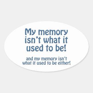 Mi memoria pegatina ovalada